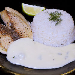 Tilapia With White Sauce
